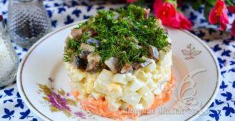 Очень вкусный салат из селедки с картошкой