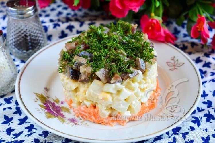 Салат из селедки с картошкой – рецепт с фото пошагово