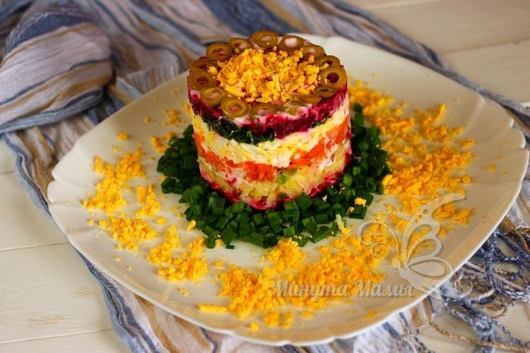 Фото-рецепт салата со свеклой и морковью