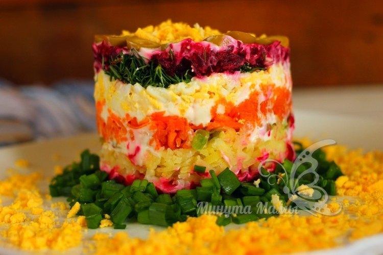 Пошаговый рецепт с фото салата со свеклой и морковью