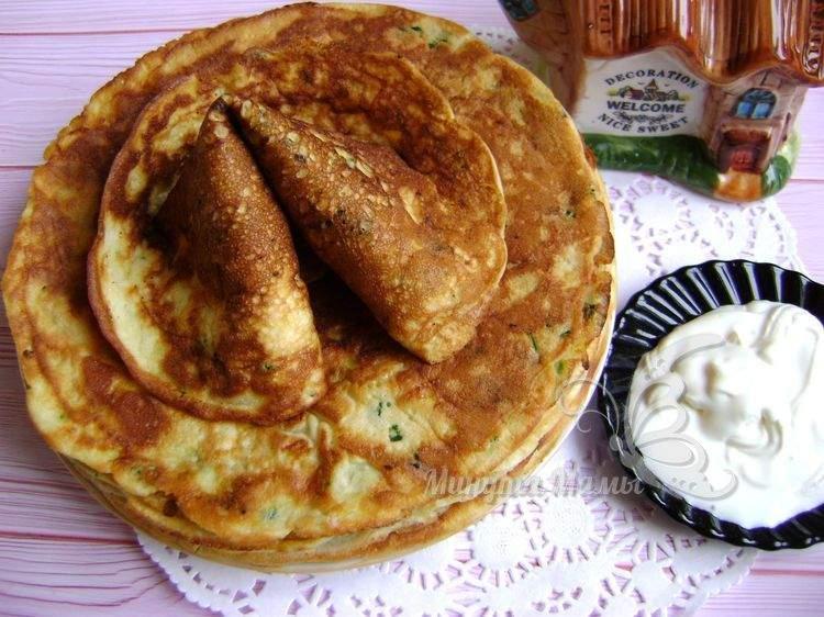 Рецепт с фото блинчиков из кабачков на сковороде