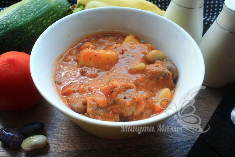 Фасоль с мясом в мультиварке - рецепт с фото простой и вкусный