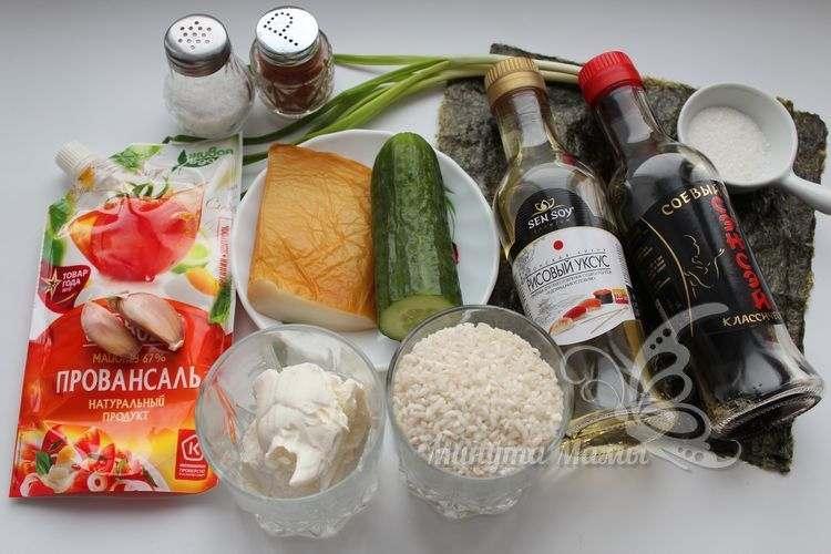 Ингредиенты для роллов