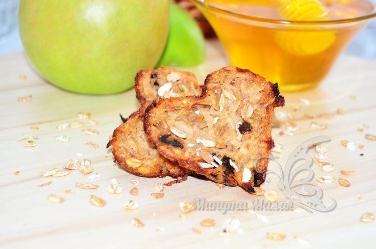 Фото-рецепт диетического овсяного печенья из овсяных хлопьев