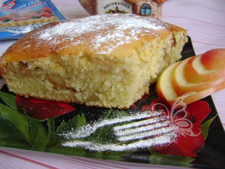 Рецепт с фото яблочного пирога на сметане вкуснее шарлотки