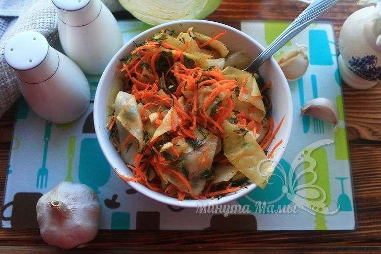 Фото-рецепт капусты по-корейски в домашних условиях