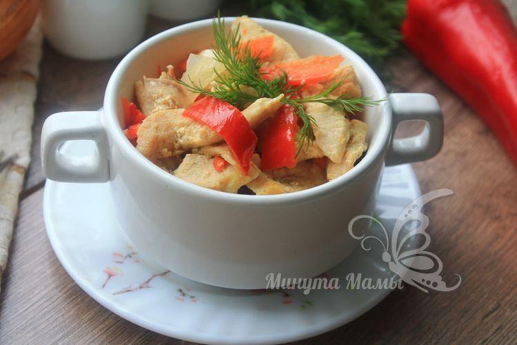 Тушеная курица с овощами в мультиварке - пошаговый рецепт с фото