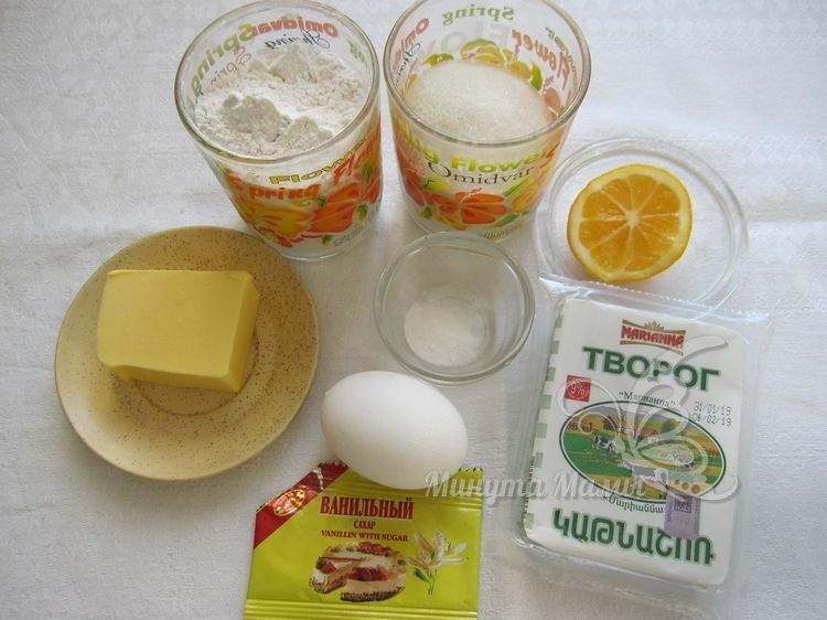 Ингредиенты для творожного печенья