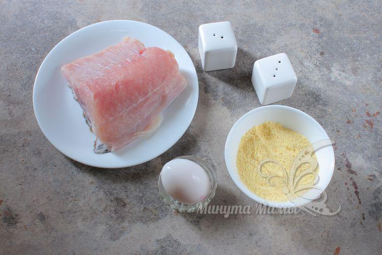 Ингредиенты для рыбы в кляре