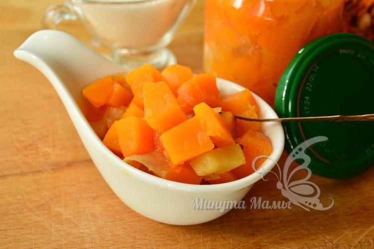 Пошаговый рецепт с фото варенья из тыквы и яблок