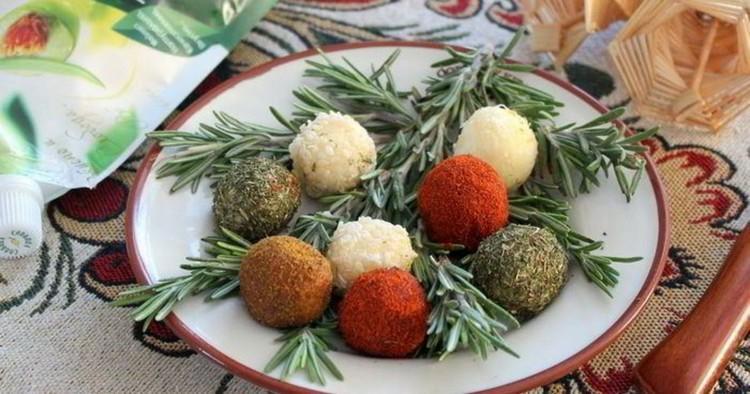 Закуска - елочные шарики