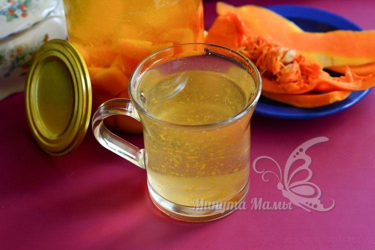 Рецепт с фото компота из тыквы с лимонной кислотой на зиму