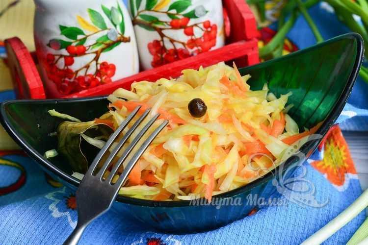Рецепт с фото квашеной капусты без соли и сахара