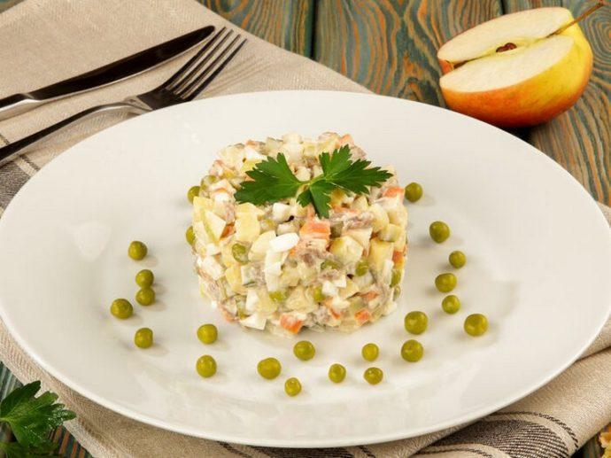 картинки салат оливье в ресторане решил приобрести внешний