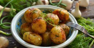 Картошка в мундире, запеченная в духовке