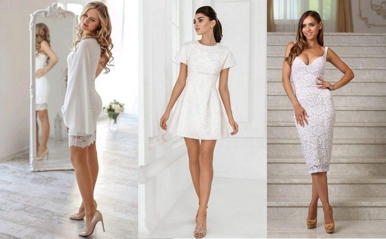 Белые платья на Новый год
