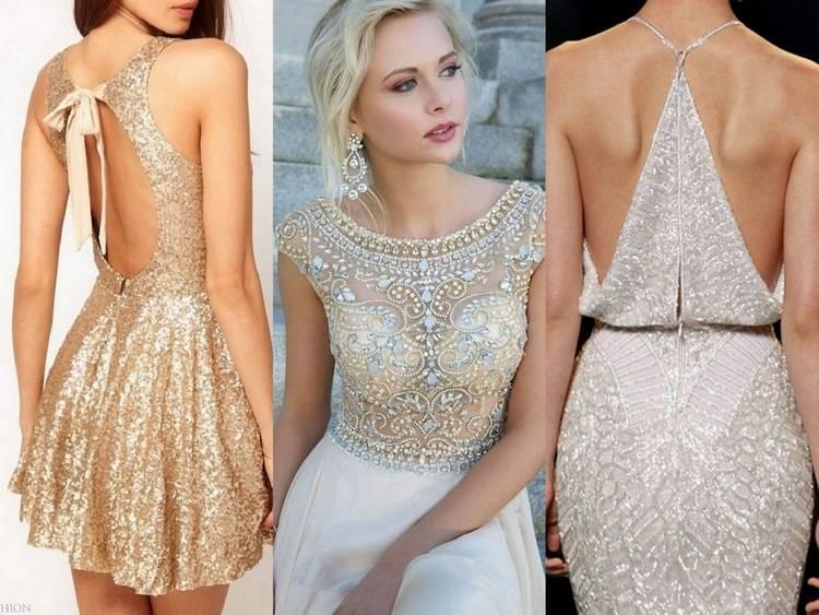 Светлые платья на новогоднюю ночь