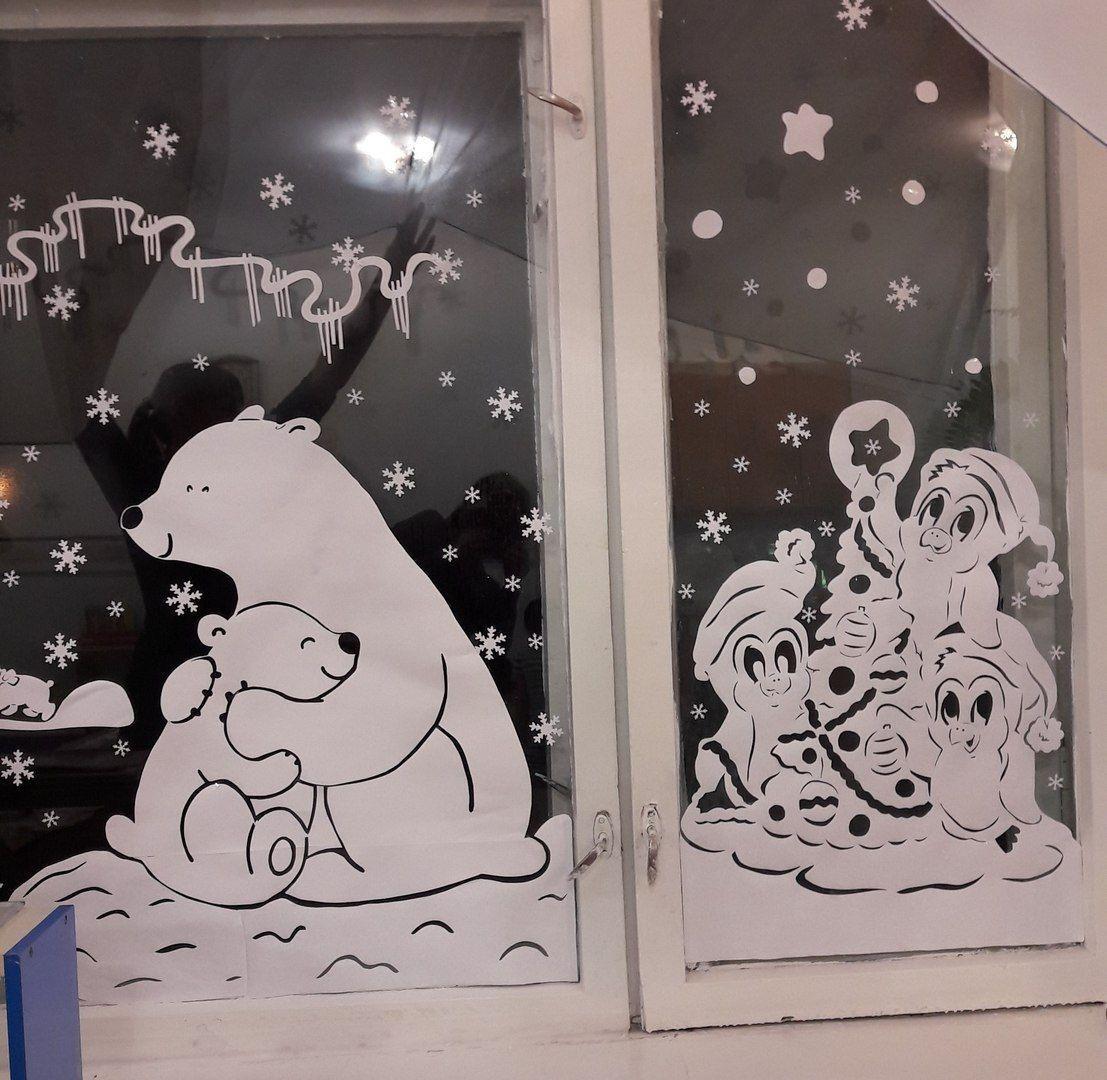 украсить рисунок к новому году