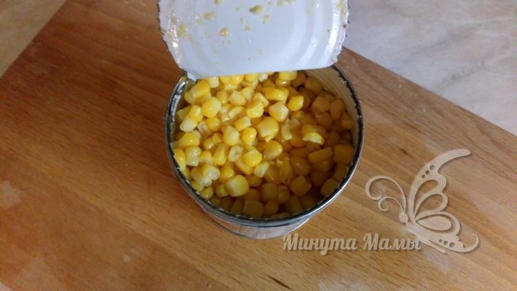 слить воду с кукурузы