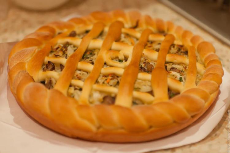 Открытый пирог с капустой