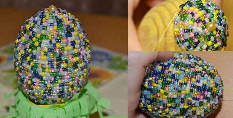Пасхальное яйцо своими руками из бисера