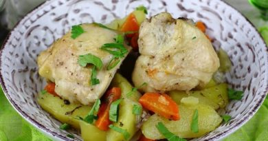 Картофель с курицей в рукаве для запекания в духовке