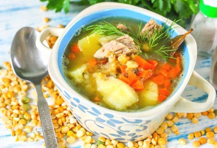 гороховый суп из говядины