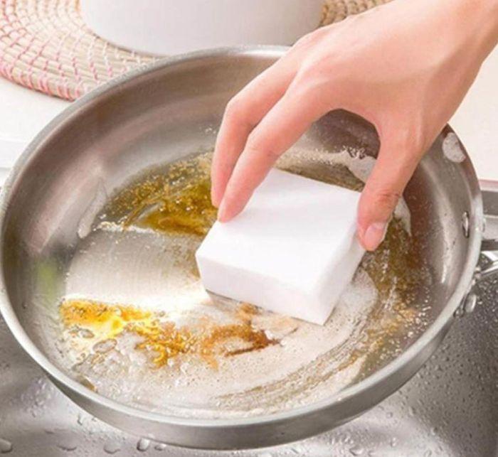 что нельзя чистить меламиновой губкой