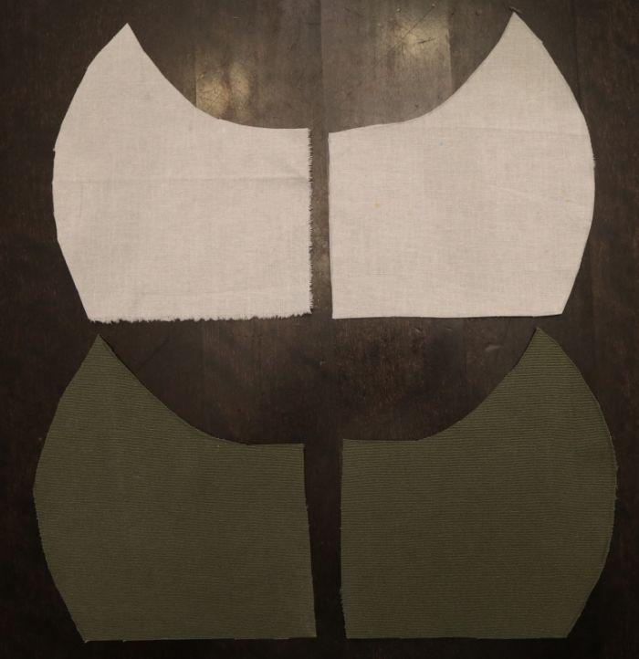 выкройка маски из ткани