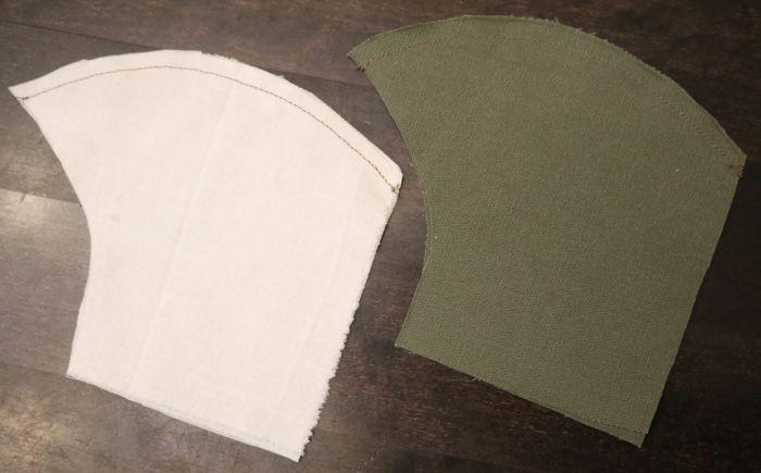 детали маски из ткани