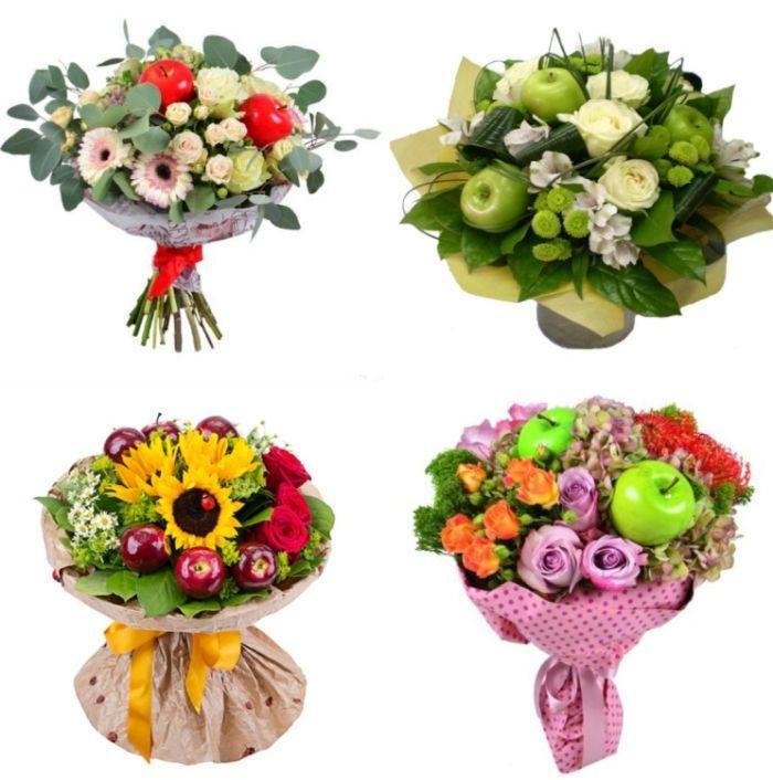 фруктово-цветочные букеты идеи