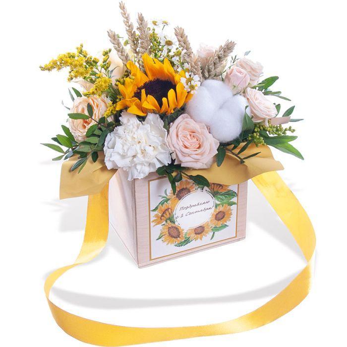 подарок учителю из цветов своими руками