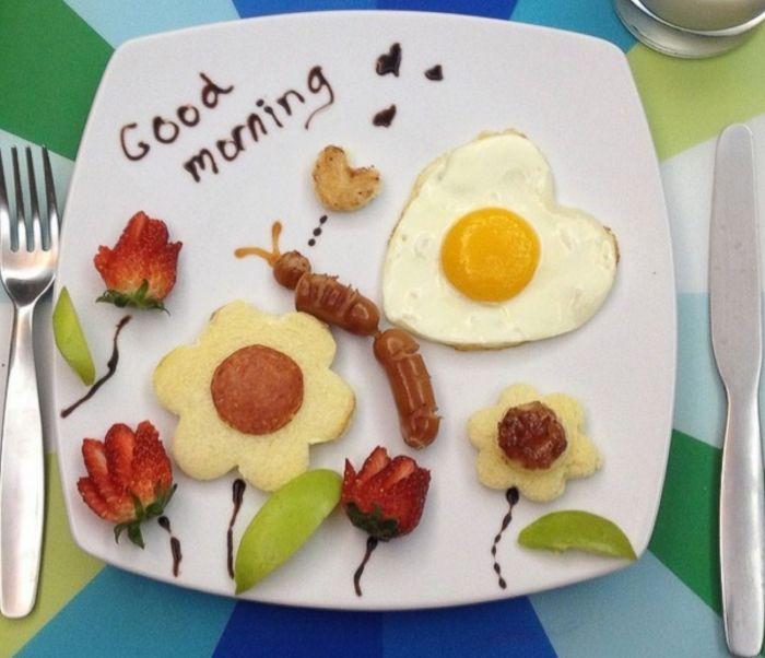красивый завтрак школьника