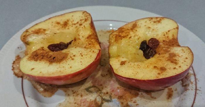 яблоки в свч за 5 минут