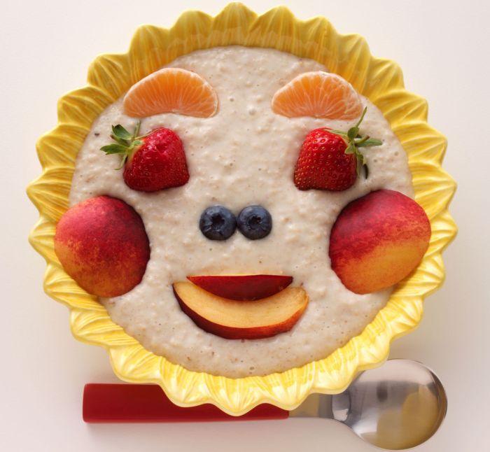 овсянка с фруктами для детей