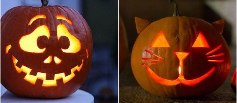 дизайн для тыквы на хэллоуин